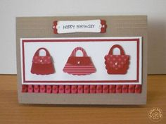 stampin up, cards, purse