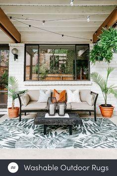 Green Outdoor Rug, Outdoor Rugs, Outdoor Spaces, Outdoor Living, Outdoor Decor, String Lights Outdoor, My Dream Home, Pergola, Gazebo