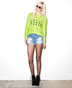Open Knit High-Low Sweater | FOREVER21 - 2050603730