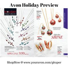 #AvonJewelryCounter #HolidayPreview  - #Necklace and #Earring #GiftSets - #ShopNow @ www.youravon.com/gkuper