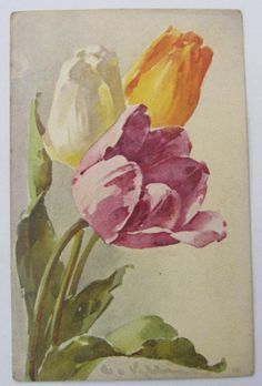 Cartolina d'epoca - KLEIN - postcard - cpa - Postkarte - FIORI
