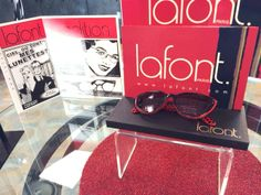 Red and Black Lafont frames!