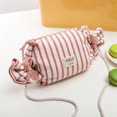 $18.99 Women's Cute Pink Stripe Crossbody Bag