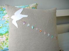 Pájaro encadenar un banner - almohada cubierta