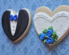 24 uds. surtidos Color corazón Cookie por MarinoldCakes en Etsy
