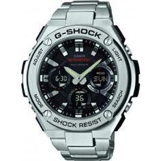 Casio GST-W110D-1AER Men's G-Shock Radio Controlled Solar Powered Silver Watch. Price: £243.02