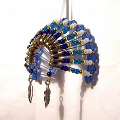 Native American Christmas Ornaments | 07065 Beaded Art Native American Headdress Christmas Ornament ...