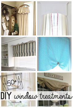 If you are looking for budget friendly, DIY window treatment ideas, this week's is for you! You will find a variety of beautiful options to dress your windows to suit your taste, without emptyi. Window Coverings, Window Treatments, Home Curtains, Diy Interior, Decoration, Home Projects, Diy Home Decor, Sweet Home, Windows