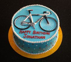 Specialty Cakes & Cupcakes for any Occasion. We create delicious cakes of the highest quality. Bicycle Cake, Bike Cakes, Cake Design For Men, Birthday Decorations For Men, Fondant, Specialty Cakes, Cakes For Boys, Yummy Cakes, How To Make Cake