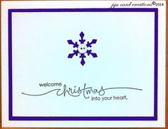 Christmas card - snowflake punched out of white cardstock and layered on Blackberry Bliss paper, although the photo never does the color justice.