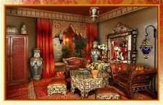 Moorish style or Moroccan ethnic living room home decor from ...