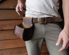 Leather Drill Holster Custom snap pouch keeps by WheelerMunroe
