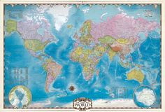 EuroGraphics Map of the World is a 2000 piece jigsaw puzzle from EuroGraphics. Puzzle measures x when complete. Stretched Canvas Prints, Framed Art Prints, Framed Artwork, 2000 Piece Puzzle, World Puzzle, Pole Art, Flag Art, Kunst Poster, Exercises