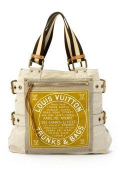 Vintage Louis Vuitton Cotton Globe Shopper Cabas MM Satchel by LXR on @HauteLook