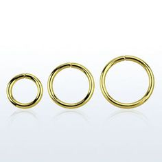 Single-Ring-Seamless-16G-18K-Gold-Plated-1-4-to-1-2-Continuous-Ear-Nose-Tragus