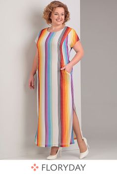 Stripe short sleeve maxi shift dress, stunning, plus size, preorder. Source by floryday dresses plus size Latest African Fashion Dresses, African Print Fashion, English Dress, Skirt Fashion, Fashion Outfits, Casual Dress Outfits, African Dress, Plus Size Fashion, Long Elegant Dresses
