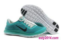 2014 Nike Free Run 3.0 V6 Flyknit Tiffany Blue Lime White Black Running Shoes Summer 2014