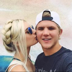 Aspyn and Parker Aspyn And Parker, Aspyn Ovard, Milkmaid Braid, Cant Help Falling In Love, Young Love, Beautiful Children, Couple Photography, Relationship Goals, Relationships