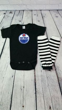 05f4fea6e Edmonton Oilers NHL hockey Onesie and by cupcakenstudmuffins