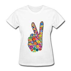 4508e9ed27d Peace Women s Scoop Neck T-Shirt - white. Spreadshirt