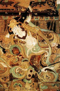 敦煌莫高窟壁畫:反彈琵琶 —— 中華藝術的瑰寶(全)