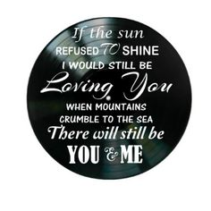 Thank You Led Zeppelin song lyrics are applied to vinyl records.  You will receive Scotch Brand mounting squares to attach your record art to the wall.  I only use damaged records that are otherwise headed to the landfill.  dimensions: 12 diameter to see more vinyl record song lyric art go to: https://www.etsy.com/shop/VinylRevamped?section_id=17181132&ref=shopsection_leftnav_6  to see more vinyl record products go to: https://www.etsy.com/shop...