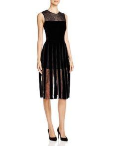Cynthia Rowley Velvet & Lace Dress | Bloomingdales's