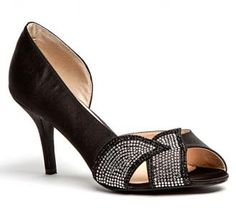 Lady Couture Lux in Black - These women's lux silver, open toed pumps are stunning in every way! These add a nice elegant fashion statement to any outfit! Retail Price: $99.00    Contact your Nchantment Shoes and Accessories Image Consultant Today! http://nchantment.com/    http://nchantment.com/content/lady-couture-lux-black
