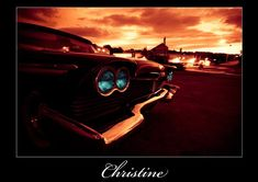 Christine 1958 58 Plymouth Fury Metal License Plate Christine Stephen King TAG 6 X 12 HOT Rod Muscle CAR Classic Museum Collection Novelty Gift Sign Garage Man CAVE