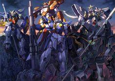 Operation Meteor - Nataku, Heavyarms, Wing Gundam, Sandrock and Deathscythe.