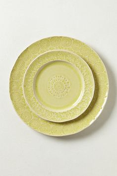 Old Havana Dinnerware #anthropologie Yellow Dinner and Salad Plate set of 2