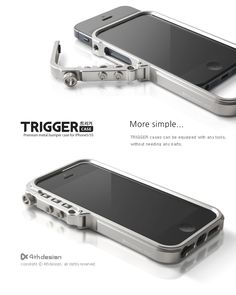 4thdesign TRIGGER case Premium metal bumper case for iPhone5