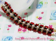 Scarlet and Black Bracelet | AllFreeJewelryMaking.com