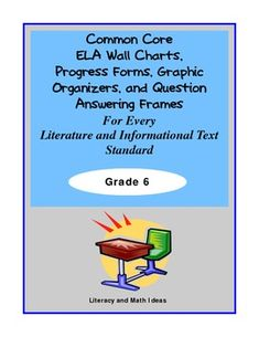 This document covers ALL of the Literature and Informational Text ELA Standards. This mega 58-page document contains graphic organizers, Common Core summary wall charts, progress forms, and question answering frames for EVERY Common Core Literature and Informational Text ELA Standard! Just add a book or magazine.