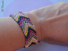 Minha pulseira da amizade MODELO ESPINHA  /// Friendship bracelet with CHEVRON PATTERN