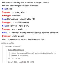 Creator of Minecraft tries Omegle