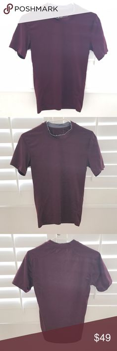 """NIKE maroon dri-fit short sleeve thermal shirt Perfect for working out or as an extra layer of warmth. In good, pre-loved condition.  🏋🏻Pit to pit 15.5"""" 🏋🏻Sleeve 7"""" 🏋🏻Shoulder 15"""" 🏋🏻Length 26"""" Nike Shirts Tees - Short Sleeve"""