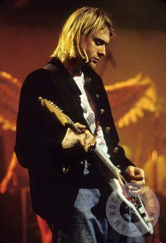Kurt Cobain by Kevin Mazur www.RockPaperPhoto.com