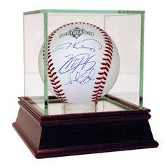 Matt Harvey, Jacob deGrom & Noah Syndergaard Triple Signed 2015 MLB Postseason Logo Baseball (MLB Auth)