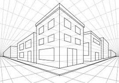 Perspective in art 2 Point Perspective Drawing, Perspective Images, Perspective Building Drawing, Two Point Perspective City, Architecture Concept Drawings, Architecture Sketchbook, Drawing Tips, Drawing Techniques, Drawing Drawing