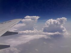 March-Photo-A-Day-Clouds: Took this photograph from a 1.3 MP cellphone camera, during my flight from Delhi to Patna last summers. Wish I had my digicam with me that time! :(
