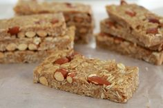 These Honey Nut Muesli Bars are so delicious - with a chewy caramel filling and crunchy nuts... it's impossible to stop at one!