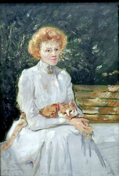 Woman with a cat Max Slevogt (October 8, 1868 – September 20, 1932) was a German Impressionist painter and illustrator, best known for his landscapes.