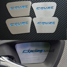 Luminous Special Inner Door Inside Door Bowl Wrist Modified Stainless Steel  Decorative Stickers Car Stickers For