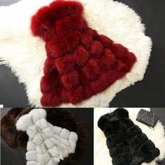 Fashion Warm Faux Fur Vest Women Coat Jacket Vest Shawl Waistcoat Overcoat