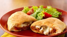 Super easy calzones with only four ingredients, and ready to eat in 30 minutes!