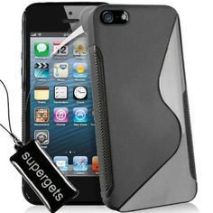 £4.99 - Apple Iphone 5 Premium Black TPU Hyadro Gel Case Cover, Screen  Protector, And Supergets Key Chain Wiper. (Amazon) 6395355ed1d9
