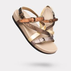 The Vera - Bronze Multi. On sale for $345. #AnyiLu #flats #fashion #shoes