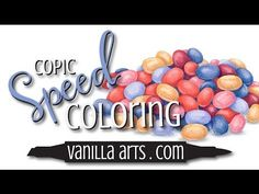 """Speed Color- Copic & Prismacolor """"Jellybeans"""" by VanillaArts.com - YouTube"""