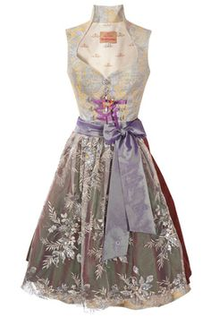 Dirndl Couture by Astrid Söll silber/lila
